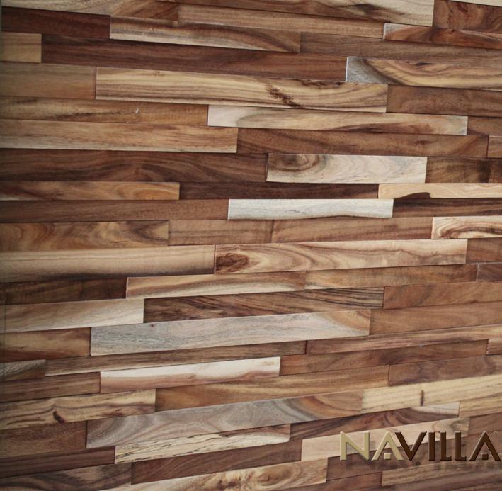 Solid Wood Wall Paneling : Solid wood panel acacia navilla wall