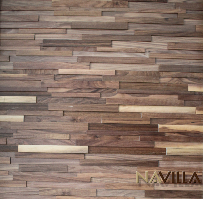 Black walnut - Solid Wood Panel----Black Walnut Navilla Wall Panel