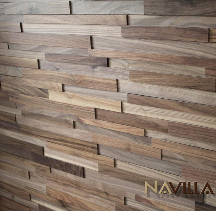Solid Wood Wall Paneling : Solid wood panel black walnut navilla wall