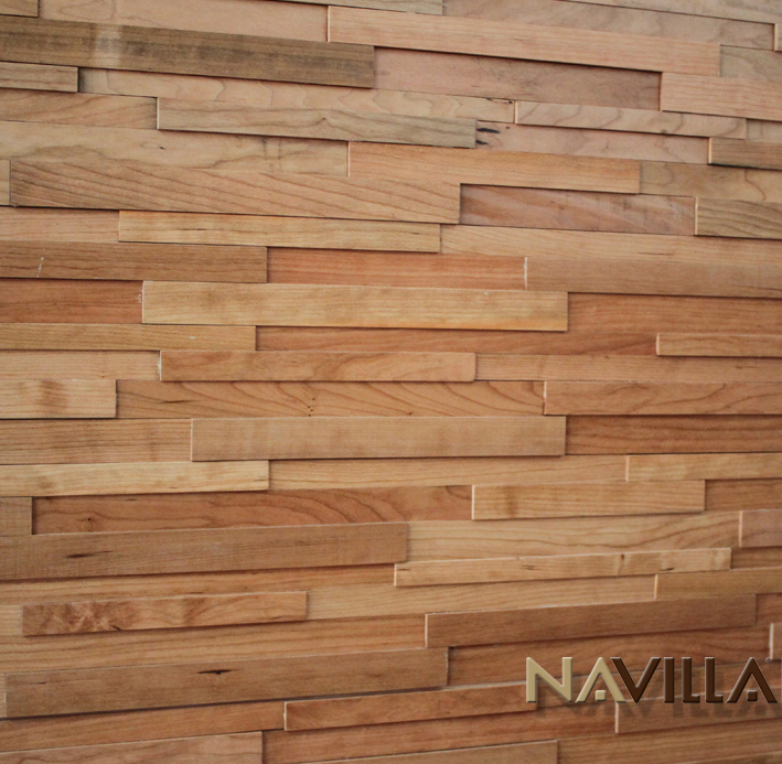 Solid Wood Wall Paneling : Solid wood panel cherry navilla wall