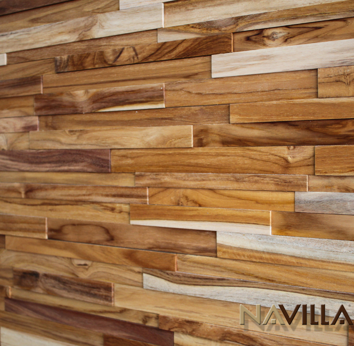 Solid wood panel teak navilla wall