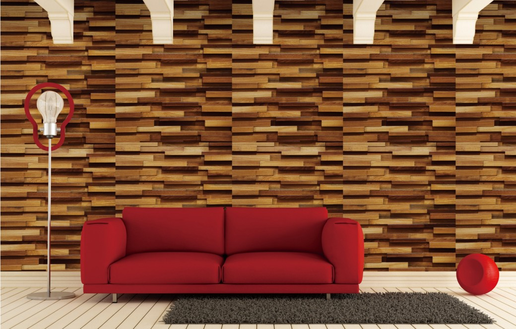 solid wood wall