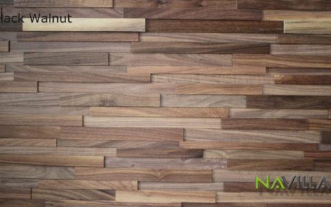 Solid Wood Panel Black Walnut Navilla Wall Panel