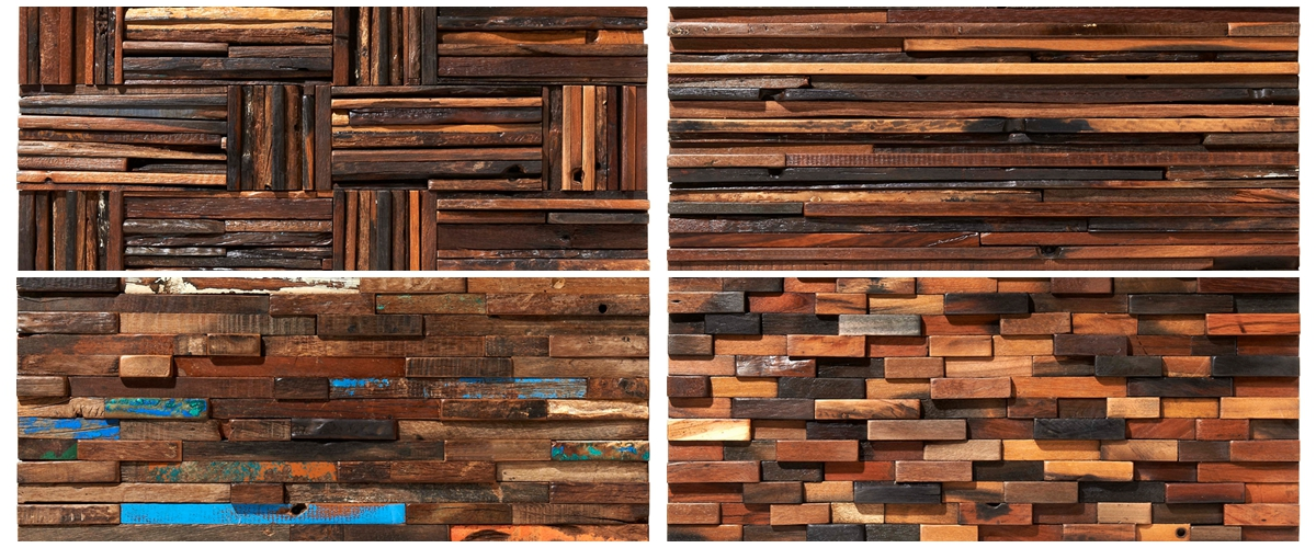 New items of old ship wood mosaic